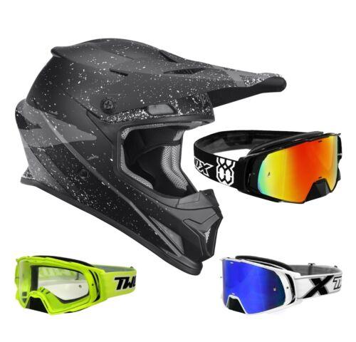 Thor sector Hype crosshelm motocross casco negro gris two-X Rocket MX gafas