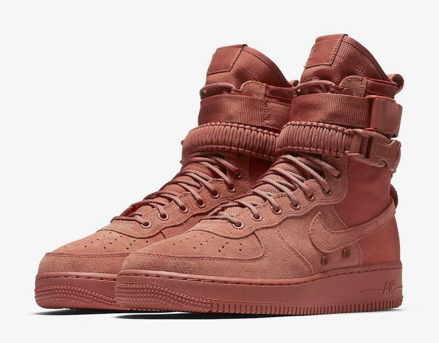 NIKE SF AF1 864024 204 DUSTY PEACH (CLAY PINK) - SPECIAL FIELD AIR FORCE-STRAPS