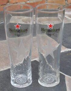 2x-Heineken-Pint-Glasses-Tall-ex-con