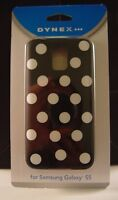 Dynex - Case For Samsung Galaxy S5 Cell Phones - Black/white Dots Usa Seller