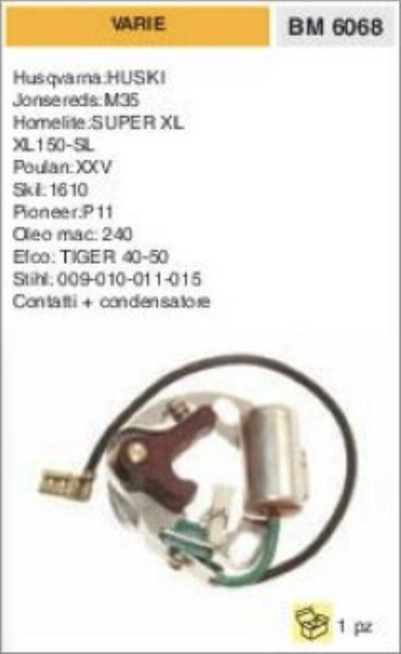 CONTATTI + CONDENSATORE PUNTINE MOTOSEGA PIONEER 11 OLEOMAC 240 EFCO tiger 40 50