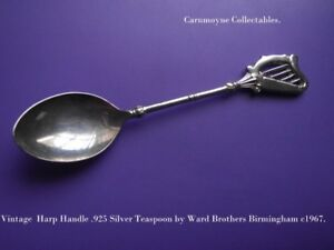 Vintage-Silver-Teaspoon-925-by-Ward-Brothers-Birmingham-c1977-AH9136