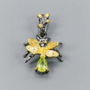 Vintage-Natural-Peridot-925-Sterling-Silver-Pendant-NP07776