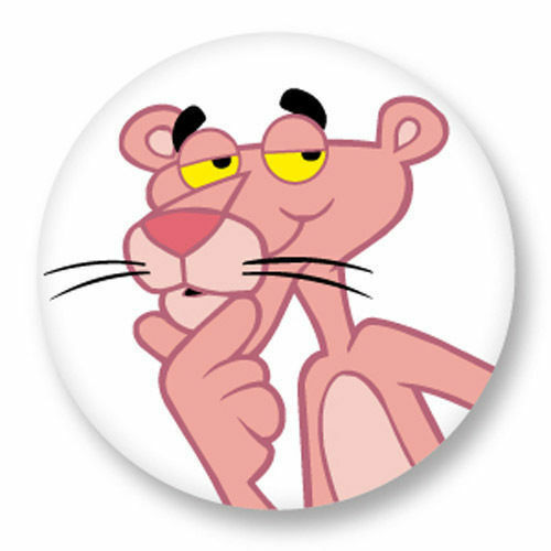 Magnet Aimant Frigo Ø38mm Dessin Animé La Panthere Rose Pink Panther