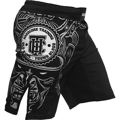 Fight Shorts Men/'s HCT Ta Moko black MMA BJJ UFC Grappling Fitness Active Sport