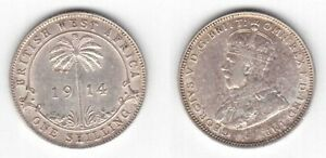 BRITISH-WEST-AFRICA-SILVER-1-SHILLING-COIN-1914-YEAR-KM-12-GEORGE-V