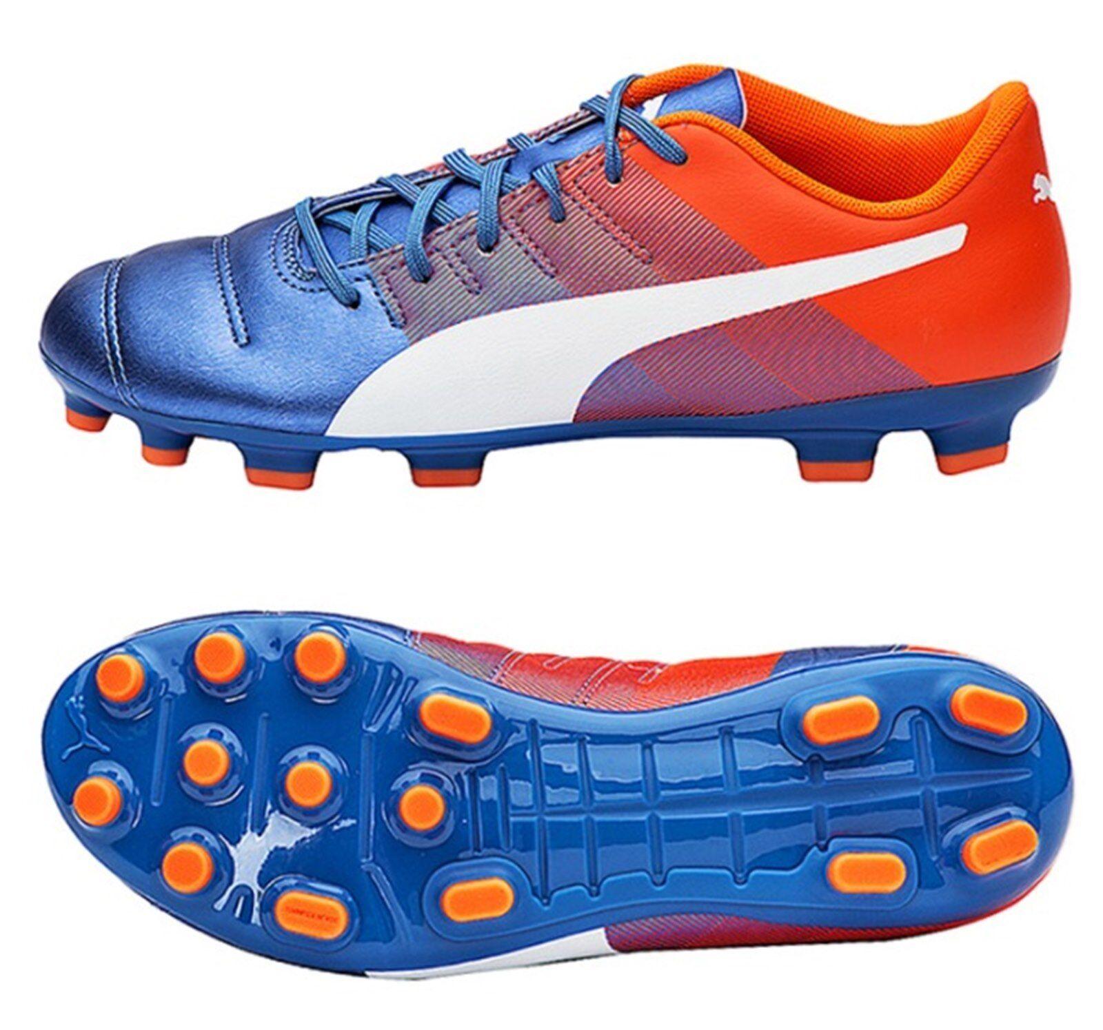 Puma Para Hombre Evo-Potencia 4.3 AG Botines Zapatos de fútbol de pico azul 103538-03