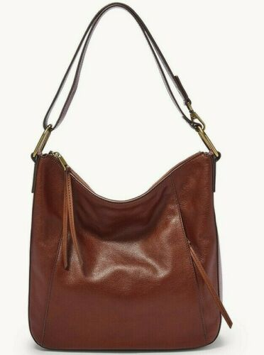 Details about  /Fossil Talia Hobo Crossbody Shoulder Bag Brown Leather SHB2716213 $228 Retail FS