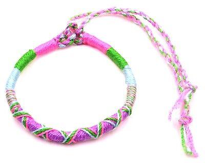 Bracelet de l/'amitié unisexe réglable porte-bonheur en 100 /% coton