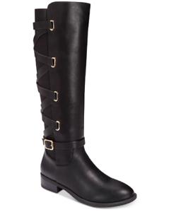 NEW Thalia Sodi Women's Veronika Western Boots Size 7 W Wide Calf Black $110