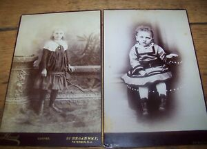 LOT 2 ANTIQUE VICTORIAN CHILDREN GIRL CABINET PHOTO ...