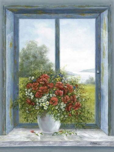 Wand Bild A Heins Stillleben Arrangements Malerei Blau 59x44x1,2 cm A0US