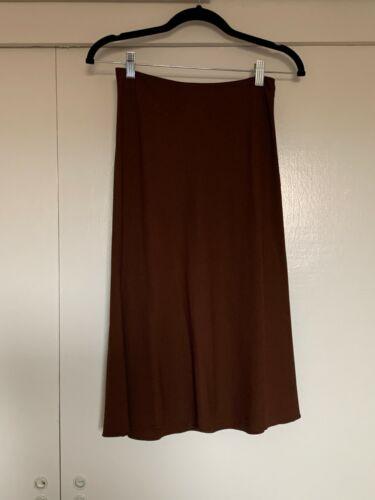 Prada Brown Burgundy Midi Slip Skirt
