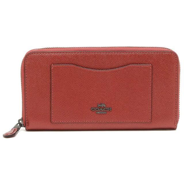 54308d5f8db Coach Metallic Hot Pink Crossgrain Accordion Zip Around Wallet F21068 QBNH3  NEW