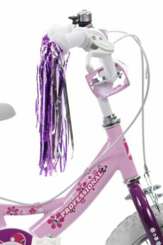 Bow Basket Tassels /& Free Grips Girls Pink Bike Accessories Pack Dolly Seat