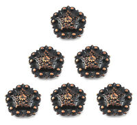 Berry Pentagon Concho Lot Of 6 Pcs Antique Copper Western Leather Craft 1
