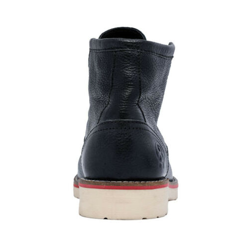 Leather in gratuita Sturdy James In Black UK Boots Work Jesse consegna aEBqwT6x