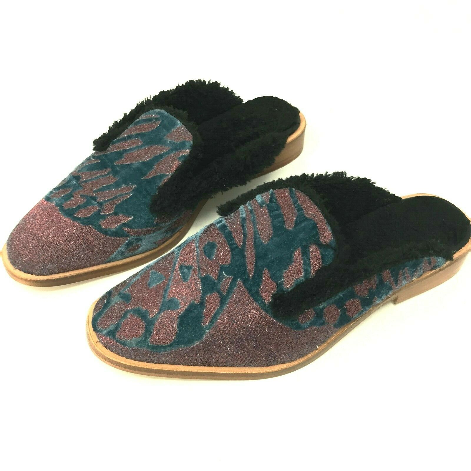 Free People Women's Fur Lined Butterfly Effect Mules Mules Mules Slides SZ 37 or 7 NWOB 06b19b