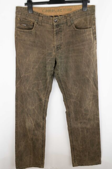 Camel Active Woodstock Men Jeans Brown Straight Fit Stretch Cotton size W36 L34
