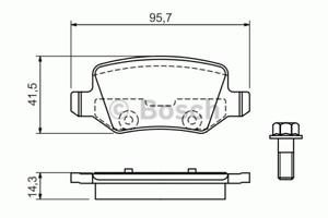Bosch 0 986 494 023 Bremsbelagsatz Scheibenbremse