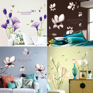 Removable-Floral-Home-Living-Room-Mural-Decor-Art-Vinyl-Decal-DIY-Wall-Sticker