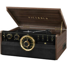Victrola 6-in-1 Wood Bluetooth Mid Century Record Player 3-Speed Turntable with