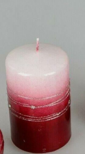 Formano Kerze Spirale rot weiß Wachs aus Deutschland Wachskerze Größe wählen ♥