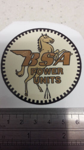 BSA power units stationary engine decal  GOLD vintage