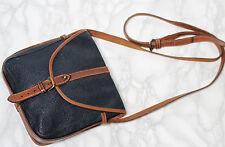 MULBERRY Vintage Leather & Scotchgrain Small Classic Saddle Satchel Shoulder Bag