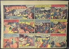 SUPERMAN SUNDAY COMIC STRIP #18 Mar 3, 1940 2/3 FULL Page DC Comics RARE