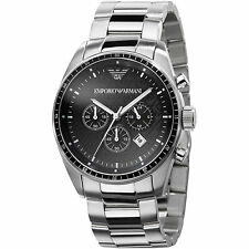 Emporio Armani Sportivo Watch Black/Silver Quartz Analog Men's Watch AR0585