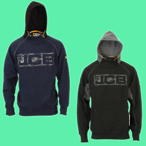 JCB-Work-Wear-Mens-HORTON-Heavyweight-Hooded-Top-Hoodie-Hoody-Sweatshirt-Snood