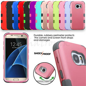 For-Samsung-GALAXY-S7-Edge-Rubber-Hybrid-Hard-Protective-Case-Cover-Shockproof