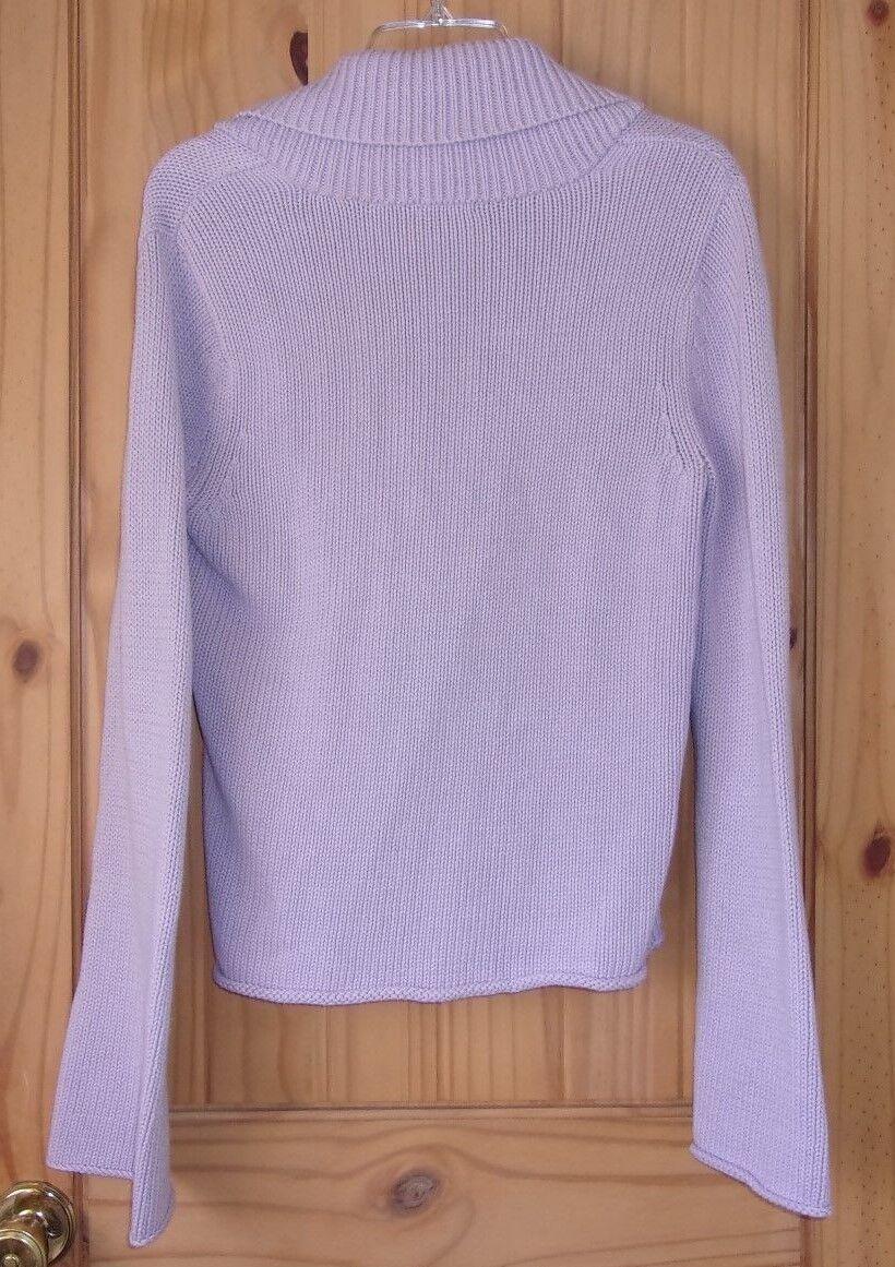 Calvin Klein Lilac 1 Button Shawl Collared Cardig… - image 2