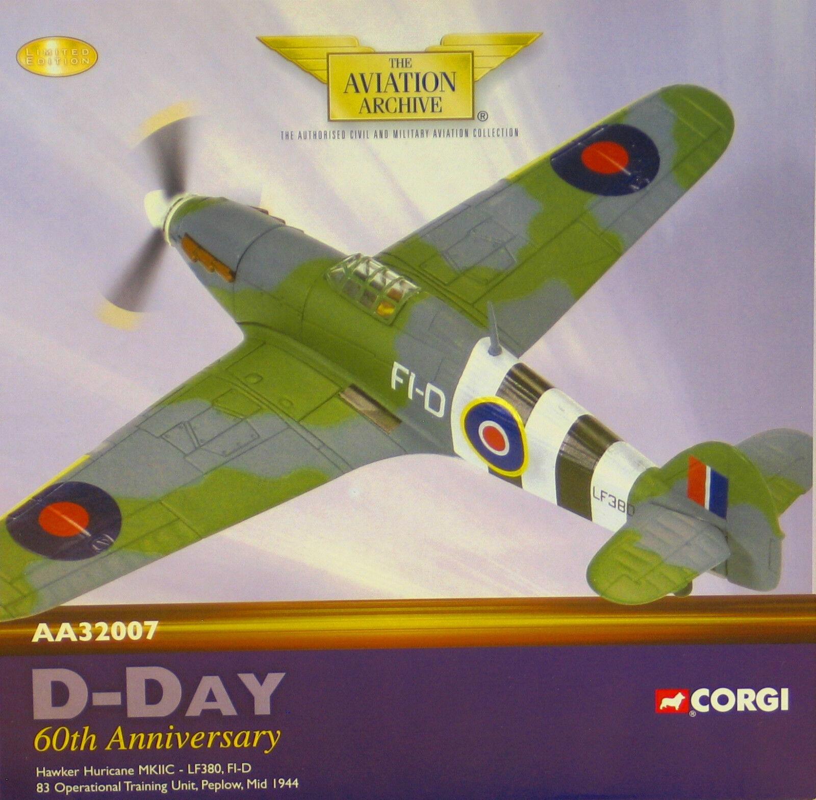 Corgi AA32007 Hawker Hurricane Mk II RAF No.83 OTU, LF380, Raf Peplow, 81 3300