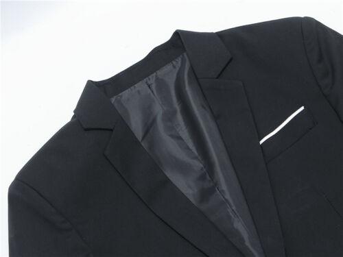 Fashion Men/'s Casual Slim Fit Formal One Button Suit Blazer Coat Jacket Tops