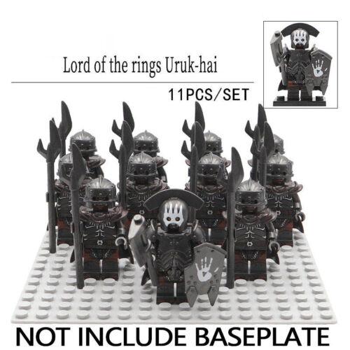 11Pcs Uruk Hai Shaman Army Military The Lord Of The Rings Lego Moc Minifigure