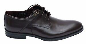 Echtleder-Herren-Schuhe-Gr-45-Braun