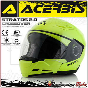 CASQUE-ACERBIS-STRATOS-2-0-CROSSOVER-INTEGRAL-JET-JAUNE-MOTO-SCOOTER-TAILLE-L