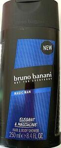 4x250ml-Bruno-Banani-Magic-MEN-Shower-Gel-Duschgel-Elegant-amp-Masculine-Body-Hair