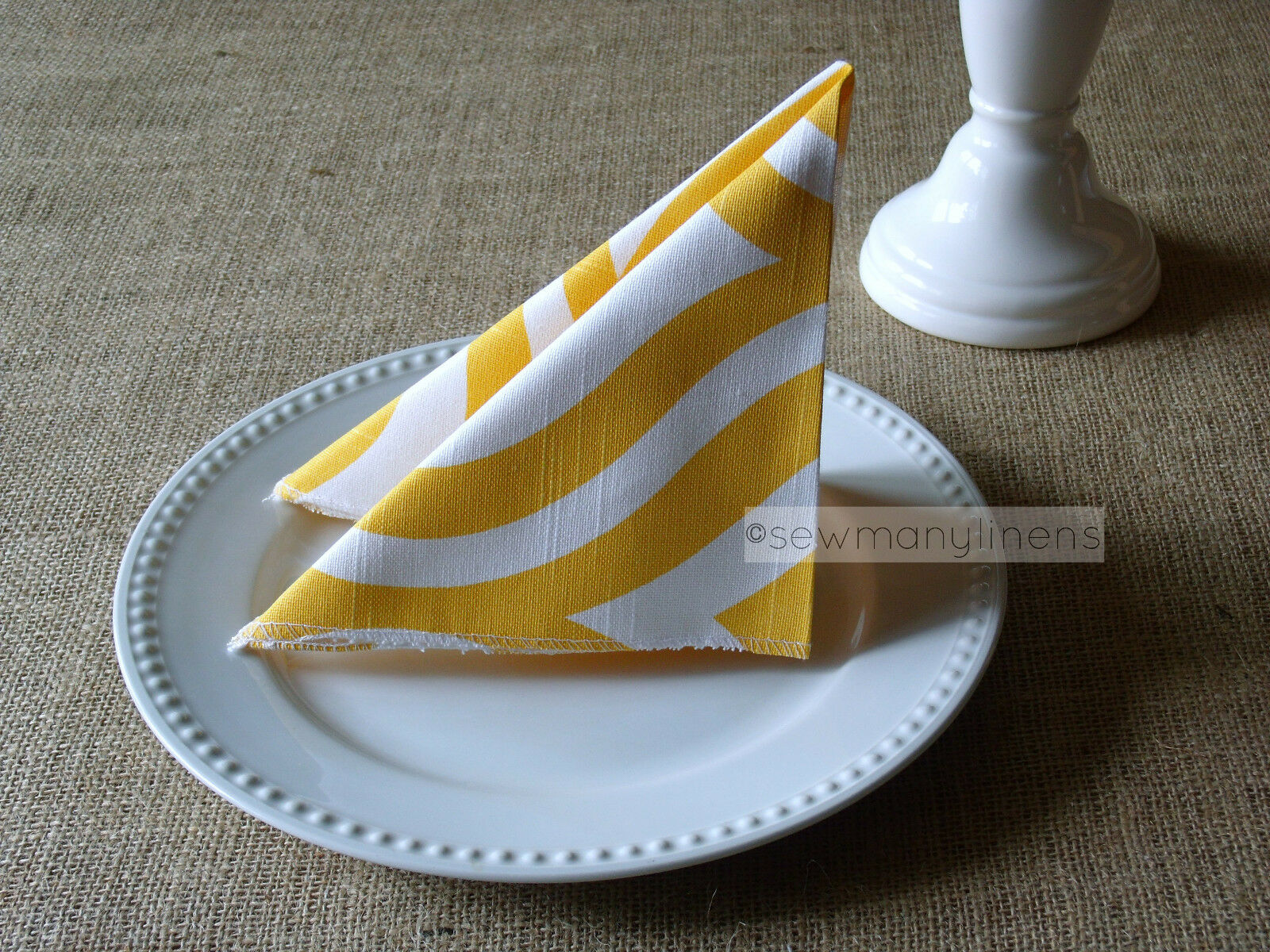 Yellow Napkins Wedding Table Centerpiece Linens Decor Modern Geometric Napkins For Sale Online
