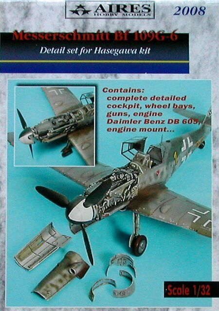 Aires 1 32  Messerschmitt Bf109G-6 Detail Set for Hasegawa kit