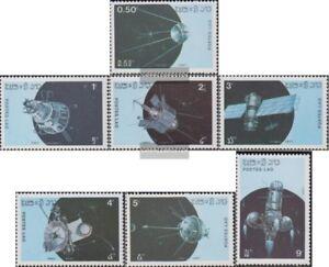 Laos-988-994-kompl-Ausg-postfrisch-1987-Raumfahrzeuge