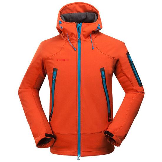 D98 Men Orange Ski Snowboard Winter Waterproof Breathable Jacket S M L XL XXL