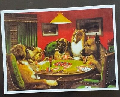 Dogs playing cards poker Sticker tablet laptop guitar 097