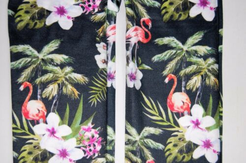 Patterned Tights Funky Alternative Suspender Flamingo Hibiscus Tropics Paty