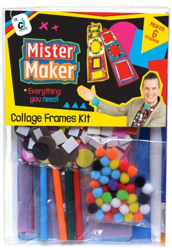 Mister Maker Collage Marcos Mini Craft Kit Niño//Niño Arte//Play Set CBeebies N