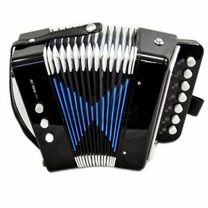 GREAT-GIFT-NEW-Top-Quality-Black-Accordion-Kids-Musical-Toy-w-7-Buttons-2-Bass