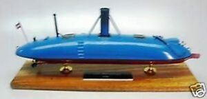 Details about CSS Manassas Steam Submarine Mahogany Kiln Dry Wood Model  Small New