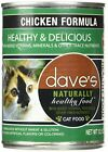 Dave's Naturally Healthy Chicken Formula For Cats - Canned Cat Food - 12.5 Ou...